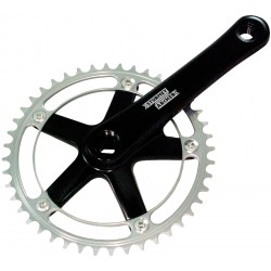 Sturmey Archer Crankset FCT66 Black/Silver 46T Square Taper 170mm