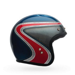 Bell Custom 500 Open Face Motorcycle Helmet Airtrix Heritage Blue/Red L