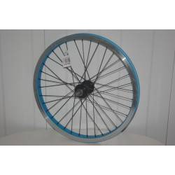 Voodoo Ogun 20in BMX Front Wheel Blue/Silver