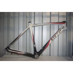 Carrera Virago Carbon Bike Frame White/Black/Red 48cm 700C