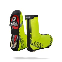 Pair BBB Waterflex Neon Yellow Overshoes 41/42