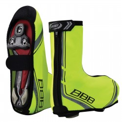 Pair BBB Waterflex Neon Yellow Overshoes 45/46
