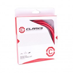 Clarks Universal Stainless Steel SS Gear Cable Inner + Outer Red