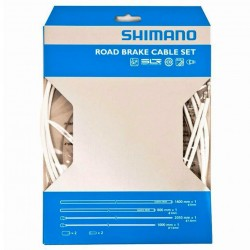 Shimano Road PTFE Brake Cable Set White 140/80cm outers 205/100cm inners