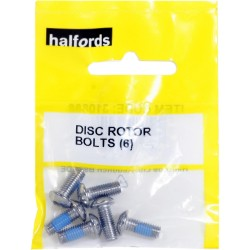 Halfords 6 Disc Brake Rotor Mounting Bolts