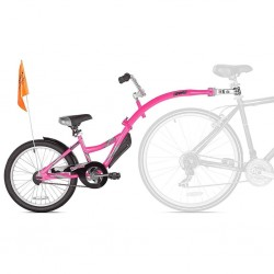 WeeRide Co-Pilot Tag Along Trailer with quick release - Pink