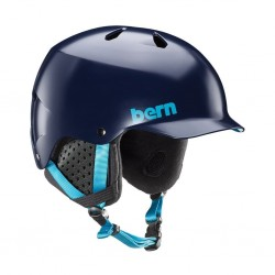 Bern Watts Thin Shell Snowboard Helmet Boa Liner Medium Satin Navy
