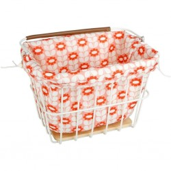 Olive And Orange By Orla Kiely Basket Liner - Pink
