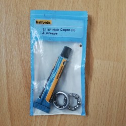 Halfords Bearings and Grease 3/16th Caged Ball Wheel Hubs etc